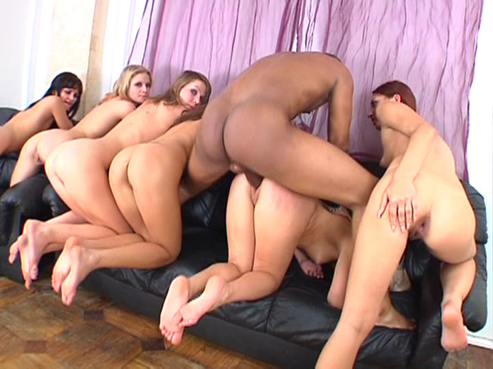 Uncensored japanese reverse gangbang